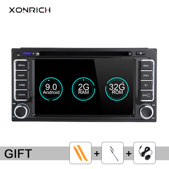 2 din Android 9.0 Car DVD GPS For Toyota Universal Land Cruiser 100 200 Prado 120 150 Rush Hiace Yaris Hilux CD Radio Navigation image