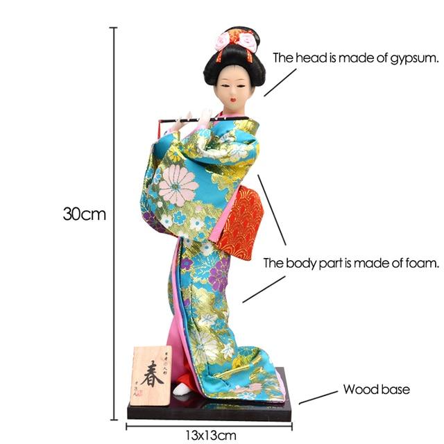30cm Traditional Japanese Geisha Figurines Statues Japanese Kimonos Dolls Ornaments Home Restaurant Desktop Decoration Gifts 2