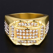 High Quality Crystal Insert Male Men ring Business ring A birthday present Jewelry Gift Delicate Drop shipping rings for men NEW delicate engraved faux gem jewelry ring for men