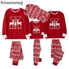 цена Family Christmas Pajamas Set Christmas Clothes Mother and Daughter Sleepwear New Baby Kid Dad Mom Matching Family Outfits H0941 в интернет-магазинах
