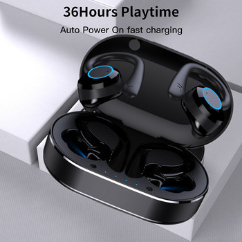 TWS Bluetooth Earphones Touch Control Wireless Headphones with Microphone Sports Waterproof Wireless Earbuds 9D Stereo Headsets 2