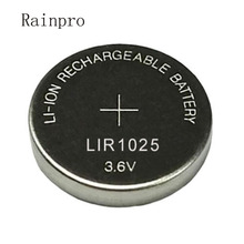 LIR1025 Button-Cell Lithium-Battery Rechargeable 3V Replace 5pcs/Lot Can