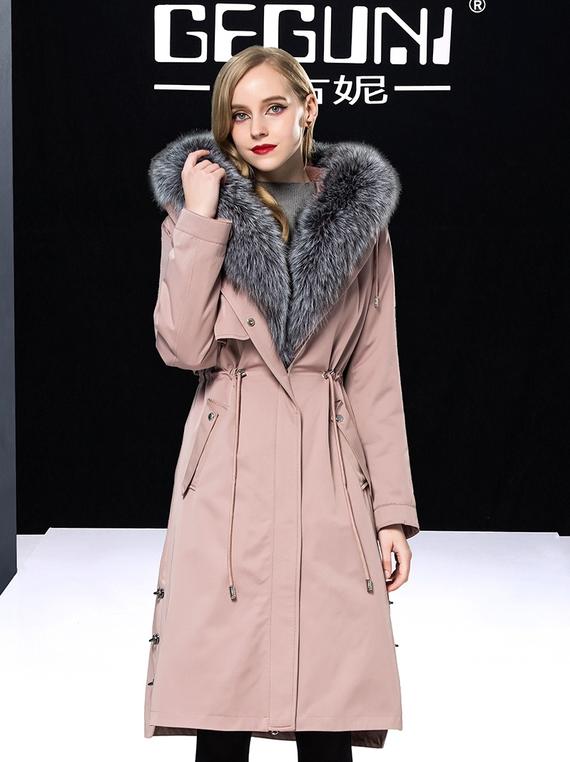 Fur Rabbit Natural Liner Parka Real Fur Coat Winter Jacket Women Clothes 2020 Fox Fur Collar Long Coat Female Parkas MY S