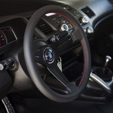 14inch 350MM leather steering wheel Racing sports Auto PVC
