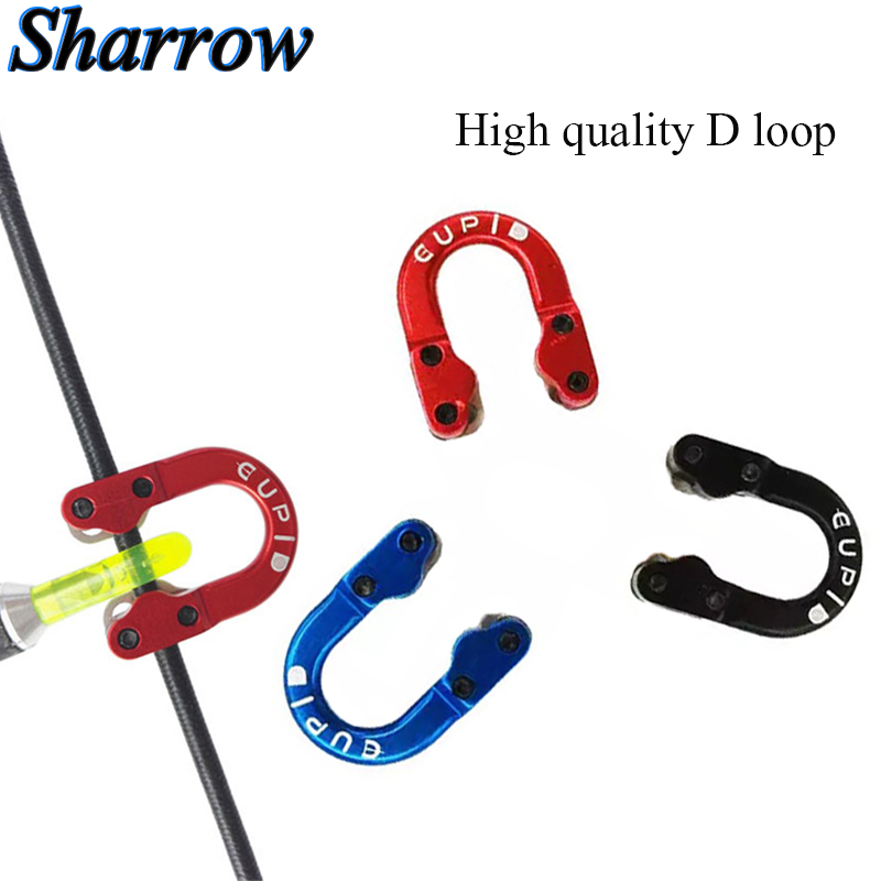 Compound Bow Metal D Loop Release Bow Ring String Arrow U Nock Archery Equipment