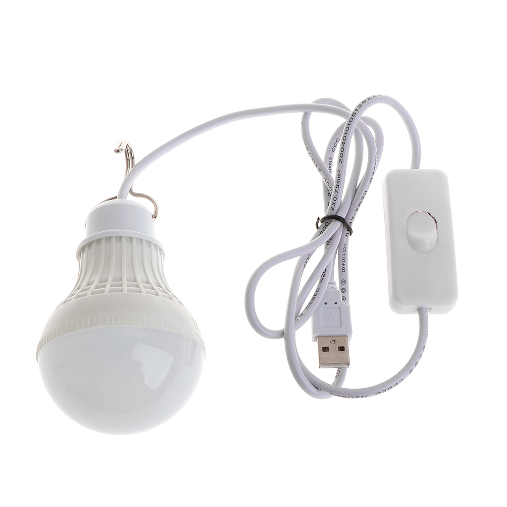 5W 10 LED Energy Saving USB Bulb Light Camping Home Night Lamp Hook Switch Drop Ship Support