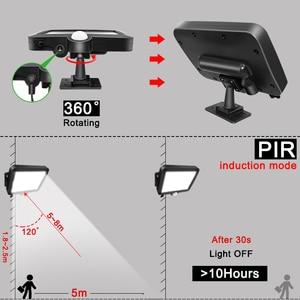 Image 4 - 56 LED Solar Light Outdoor Indoor Garden Lights Waterproof PIR Motion Sensor Wall Lamp Separable Solar Lamp With Line