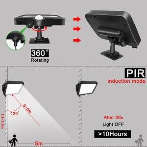 Image 4 - 56 led ソーラーライト屋外屋内ガーデンライト防水 pir モーションセンサー壁ランプと分離可能なソーラーランプライン