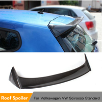 Carbon Fiber Rear Roof Spoiler Lip Trunk Wings for Volkswagen VW Scirocco Standard Coupe 2009 2013 FRP Unpainted Non R