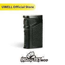 ¡En stock! UWELL IRONFIST Mod 5 200W Power Mod 18650 o traje de carga USB para IRONFIST Kit 8 colores (sin batería)
