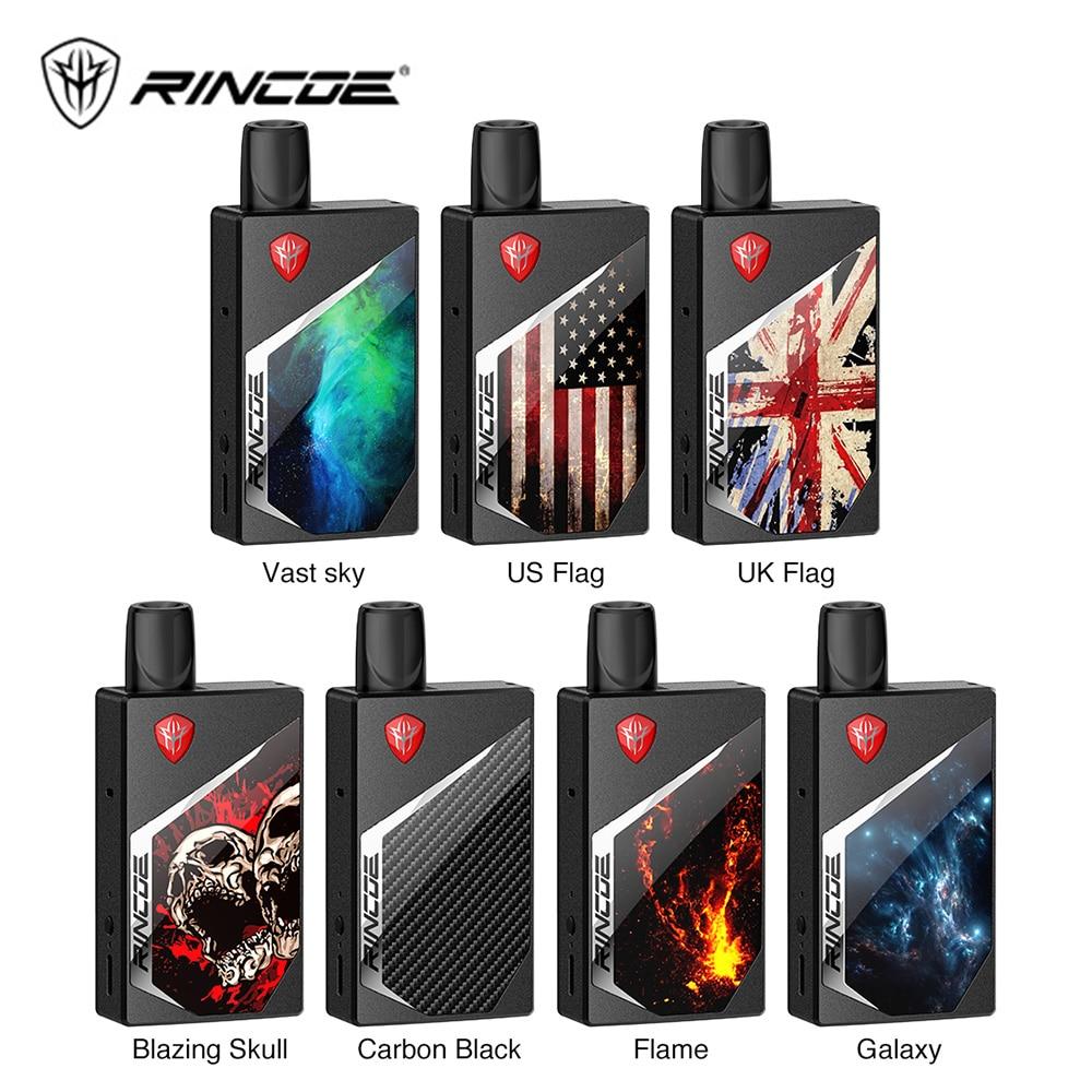 Original Rincoe Tix Pod Kit With 1000mAh Battery & 2ml Pod & 1.0ohm/0.8ohm Coil E Cig Vape Kit Vs Drag Nano / Drag 2 / Kubi Kit