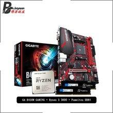 AMD Ryzen 5 3600 R5 3600 CPU + GIGABYTE GA B450M oyun anakart + Pumeitou DDR4 2666MHz RAMs takım elbise soket AM4 olmadan soğutucu