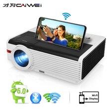 Caiwei LCD מקרן 1080P מקרן וידאו אנדרואיד 1G RAM 8G ROM בית קולנוע Proyector לבית בידור/חינוך