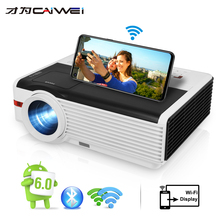 Caiwei Proyector LCD para cine en casa, 1080P, con Android y reproducción de vídeo, 1G RAM, 8G ROM, para entretenimiento en casa/educación