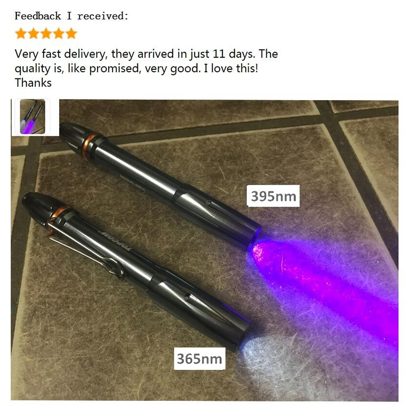 Endurecedor Pegamento Control de Dinero 395NM Linterna UV en Forma de Pluma