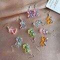 Креативные милые серьги-капельки Kpop в виде мишки из жевательного медведя для женщин, минимализм, мультяшный дизайн, женские серьги-капельки...