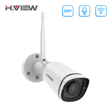 H.VIEW 5MP IP Camera Wifi Camera Outdoor Security Cameras Wifi Cameras Outdoor 2.4G 5G Bullet Camara CCTV Easy Remote View