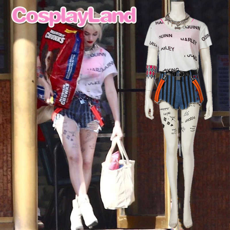 Batman Harley Quinn Outfit 2020 Birds Of Prey And The Fantabulous Emancipation Of One Harley Quinn Cosplay Costume Sexy Shorts Aliexpress
