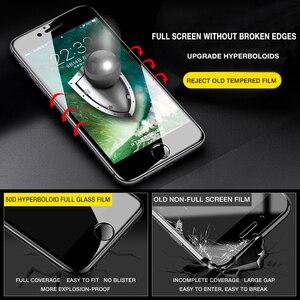 Image 4 - 50D Volle Abdeckung Gehärtetem Glas Für iphone 8 7 Plus 6 6s Glas display schutz Auf Die iphone X XS MAX XR 5 5S SE Schutz Glas