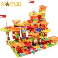 Corrida de mármore run bloco compatível duploed blocos de construção funil slide blocos diy montagem tijolos brinquedos para crianças crianças presente