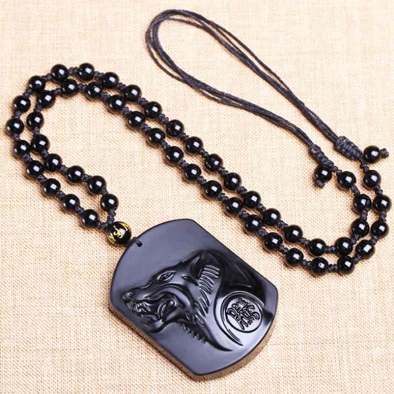 黑曜石项链-2