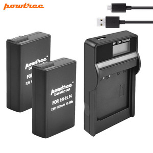 Powtree 1500mAh EN-EL14 ENEL14 Battery +USB Charger For Nikon D3100 D3200 D3300 D5100 D5200 D5300 P7800,P7700,P7100,P7000,D