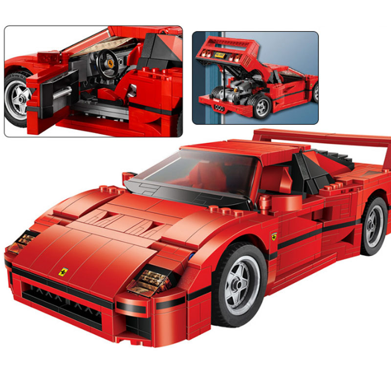 1157pcs lepining Technic Series F40 Sports Car Building Blocks Set Bricks Compatible 21004 10248 Educational Toys For Kids Gif image