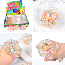 Strange new and peculiar vent toy 6.0 pinch music fruit slice small fresh hand pinch squeeze vent grape ball Grape Ball