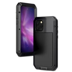 Image 2 - Pesante di protezione serbatoio in lega di alluminio del metallo di protezione delle coperture del telefono mobile per il caso di iphone 5 se 6 7 8 più di x s xr max 11 pro max