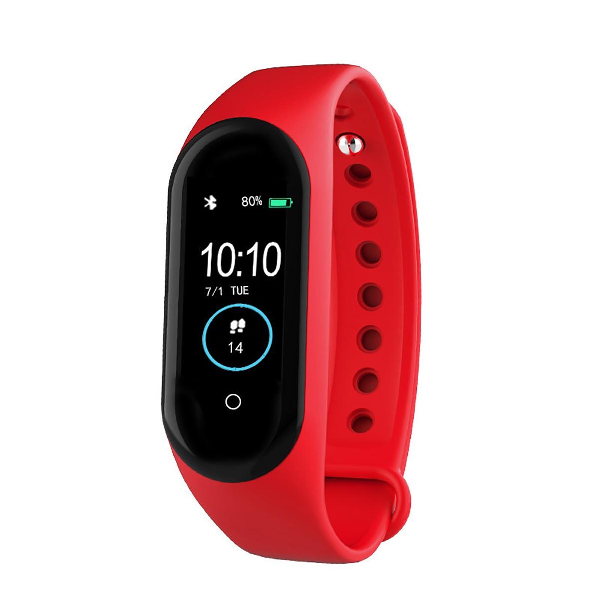 H32c4ea8795674b0a8f54ba29b0e5675bA New M4 Smart Band Fitness Tracker Smart Watch Sport Smart Bracelet Heart Rate Blood Pressure Smartband Monitor Health Wristband