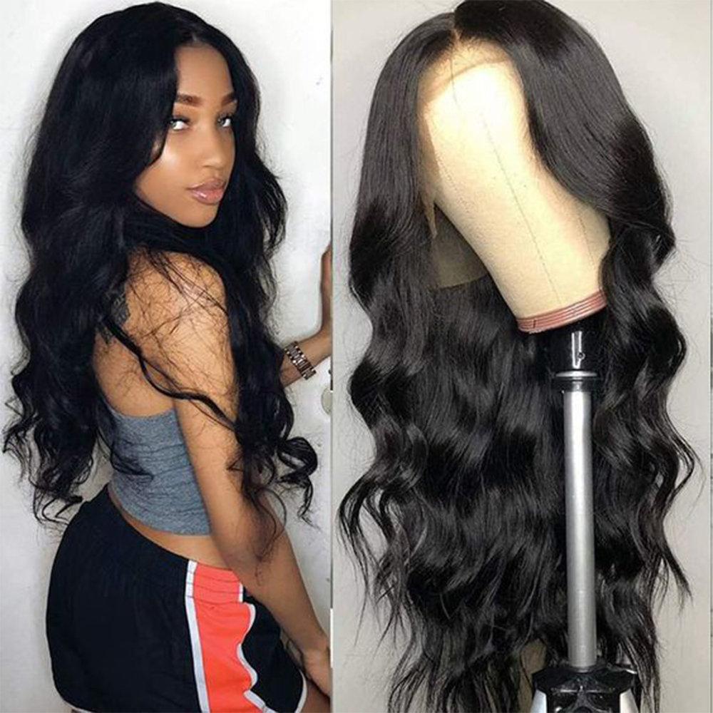 13x4 Lace Front Human Hair Wigs PrePlucked For Black Women Remy Brazilian Body Wave Lace Frontal With Baby Hair Bleached Knots