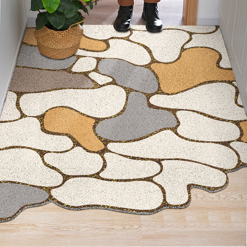 Special-shaped Durable Door Mat Outdoors PVC Rubber Absorbent Doormat Indoor And Outdoor Entry Rug Heavy Duty Mat For Floor
