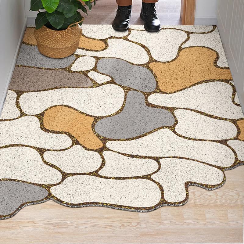 Special-shaped Durable Door Mat Outdoors PVC Rubber Absorbent Doormat Indoor And Outdoor Entry Rug Heavy Duty Mat For Floor