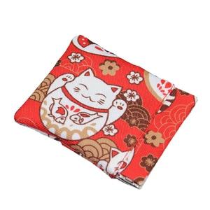 Lucky Cat Cartoon Casual Coin Wallet Summer New Brand Canvas Purses Small Fresh Lady Fashion Earphone Pocket Dollar Money Bag