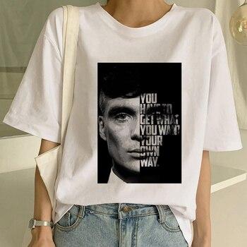 Maycaur Peaky Blinders Printed Female T Shirt Fashion T-Shirt Tee Shirts Streetwear Graphic Short Sleeve Classic Women Tshirts 1