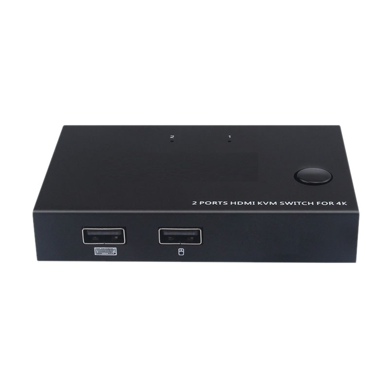 4K 60Hz 2-Port Hdmi Cable Kvm Switch With Audio Hdmi Am-Km201