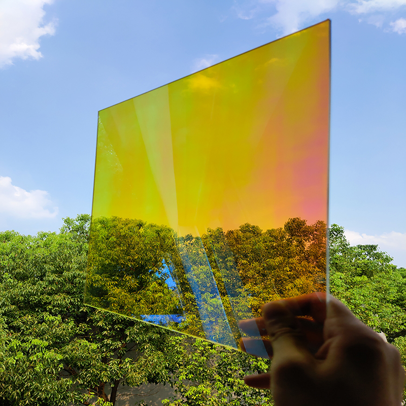Sunice 137x2000cm (65.6ft) vidro matiz dichroic janela filme de vidro diy adesivo decorativo festa de casamento festival de natal - 4