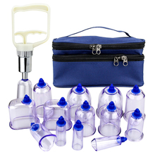 13Pcs/Set Vacuum Cupping Cups Acupuncture Massage Therapy Chinese Cupping Slimming Body Relax Massage Apparatus Health Care Tool