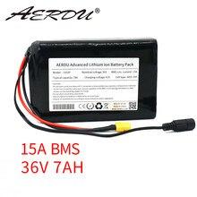 AERDU 36V 10S2P 7Ah 450Watt 18650 bateria de iões de Lítio Para Scooter de bicicleta elétrica skate 42V 37V 35E XT60 + DC plug