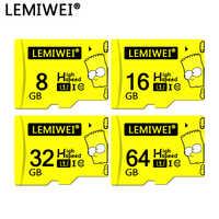 Lemiwei Bart Simpson Top Qualität TF Karte 8GB 16GB 64GB Klasse 10 Wasserdicht Die Simpson Speicher Karte 32GB Für Telefon