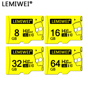 Lemiwei Bart Simpson Top Quality TF Card 8GB 16GB 64GB Class 10 Waterproof The Simpson Memory Card 32GB For Phone