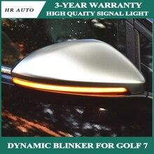 Автомобильные аксессуары для V W Golf 7 GOLF7 MK7 7 GT I R, динамический поворотный сигнал, светодиодный сигнал поворота, полудымовой свет для бокового зеркала TouranL