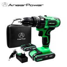 21V Plus Power Tools Hammer Impact Battery Drill Electric Drill Cordless Drilling Mini Electric Screwdriver With Magnet function