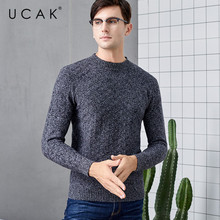 UCAK Brand Sweater Men Pure Merino Wool Casual Thick Warm Autumn Winter Casual Fashion Streetwear Pull Homme Sweaters Men U3132