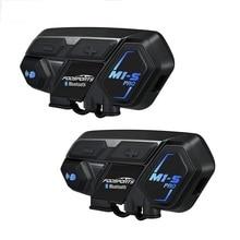 Fodsports 2 шт M1-S Pro мотоциклетный шлем Интерком bluetooth гарнитура 8 rider 2000 м Интерком водонепроницаемый группа BT переговорные