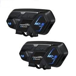 Intercomunicador para casco de motocicleta Fodsports 2 uds M1-S Pro, auriculares bluetooth 8 rider 2000M, intercomunicador resistente al agua para grupo BT