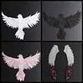 Наклейки с орлами для вышивания животных, аппликация с птицами, нашивка на пальто, рукоделие «сделай сам», цветочные крылья, переводные накл...