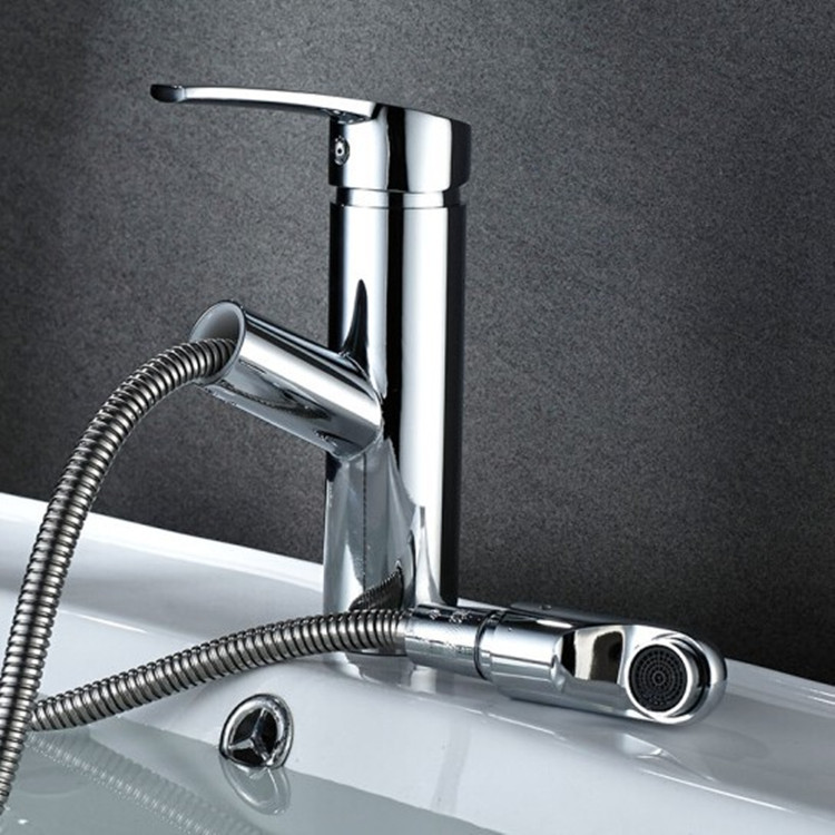 Copper Faucet Toilet Wash Basin Drop-in Sink Hot And Cold Water Bathroom Cabinet Telescopic Rotating Tap