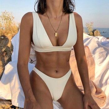 New Sexy Solid Bikini Swimsuit Women Bikinis Set Push Up Brazilian Swimwear Female Summer Beach Wear Swimming Bathing Suits 17