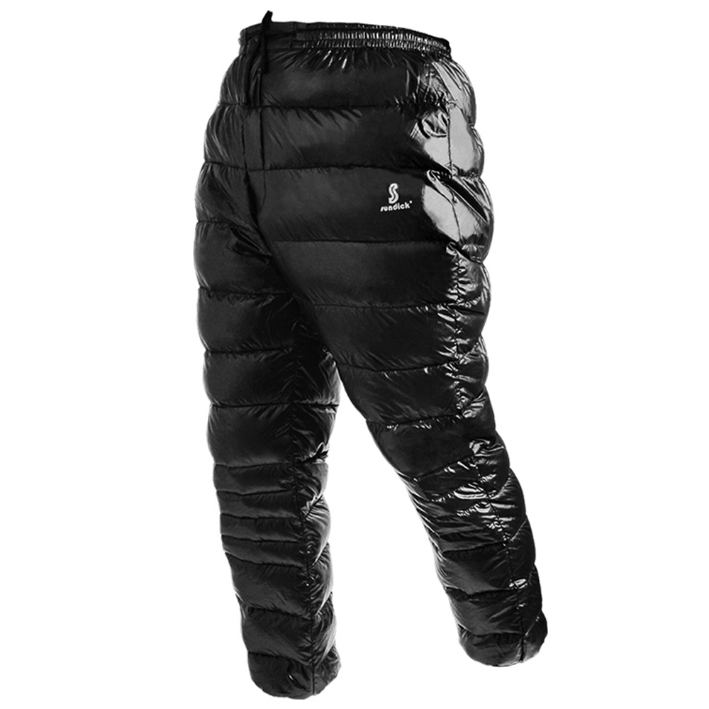 Ski White Goose Down Pants Thermal Waterproof Down Trousers Outdoor Winter Sports Travelling Mountaineering Camping Skiing